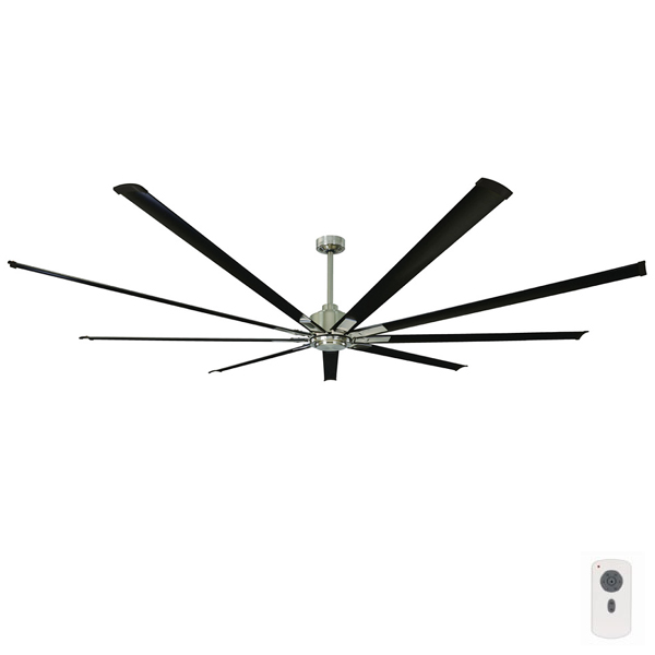 Commercial Lighting Dc: 2.4metre 95″ DC Fan With Remote Control Black