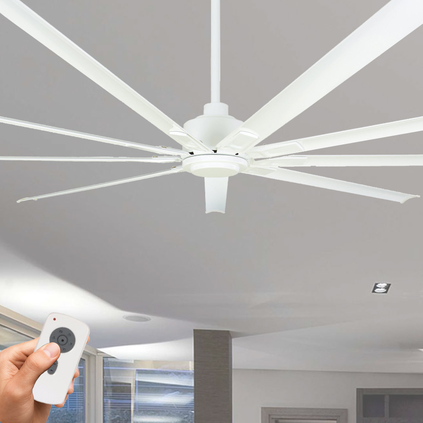 Commercial Lighting Dc: 2.4metre 95″ DC Fan With Remote Control White